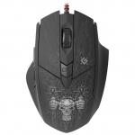 Мышь проводная игровая оптическая Defender Doom Fighter GM-260L (черный),USB, 6 кн. + колесо, 800-3200, + КОВРИК!