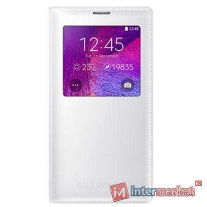 Чехол Samsung S View Cover for Note 4 EF-CN910FTEGRU (white)