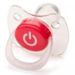 Соска Happy Baby Baby Pacifier 12-24 мес ортодонтической формы c колпачком Red