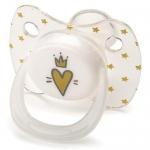 Соска Happy Baby Baby Pacifier 12-24 мес симметричной формы c колпачком Hearts