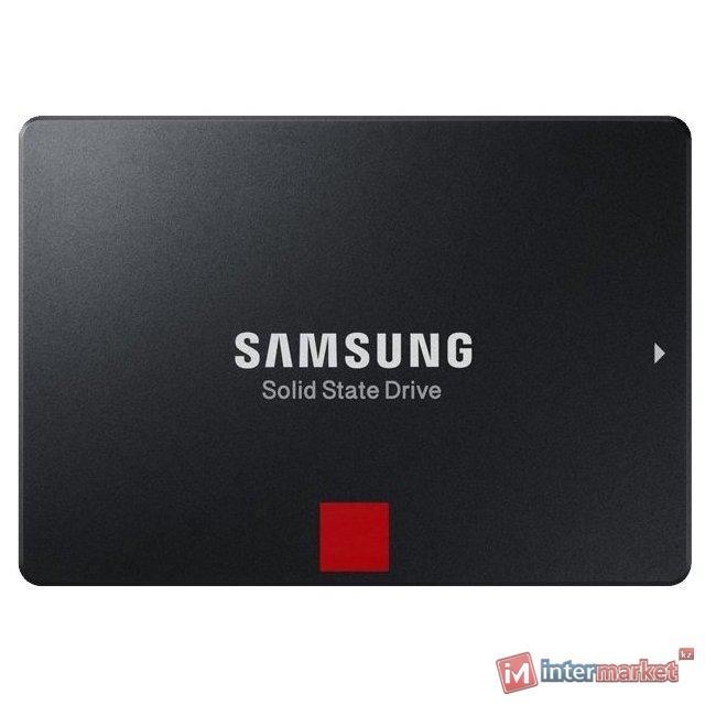 """Твердотельный накопитель 4000GB SSD Samsung 860 PRO 2,5"""" SATA3 R560Mb/s W530MB/s MZ-76P4T0BW"""
